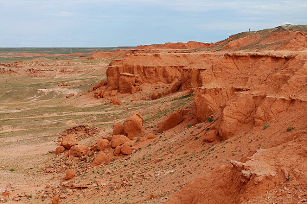 after rain in the Flaming cliffs