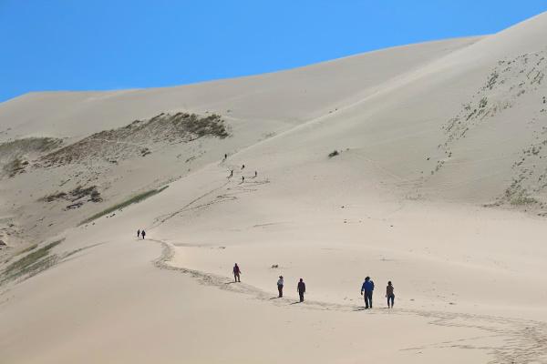 hiking in khongor sand dunes