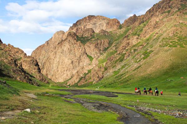 across the Gobi desert