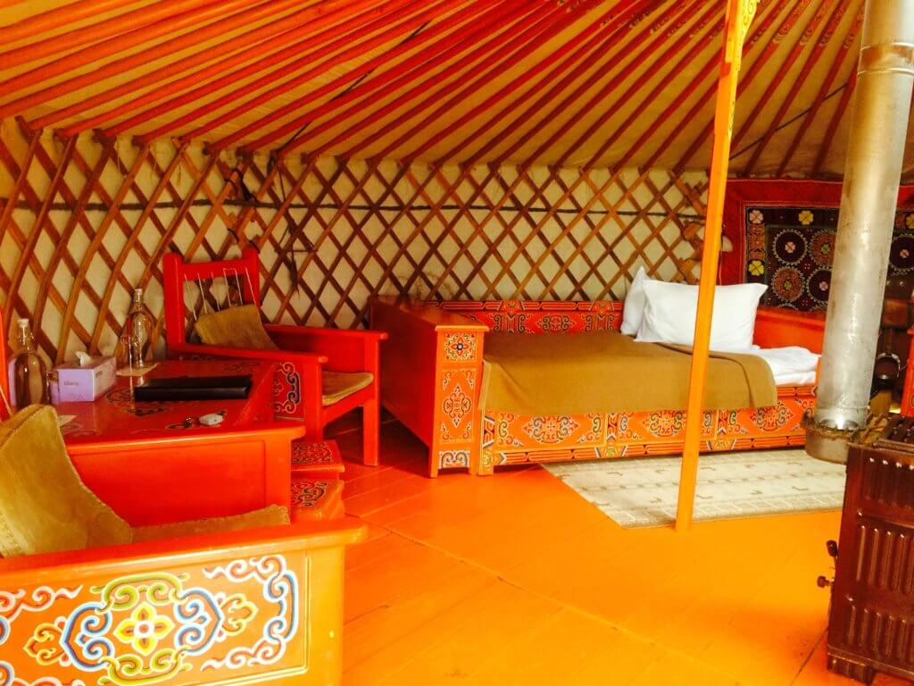 tourist ger camp in mongolia